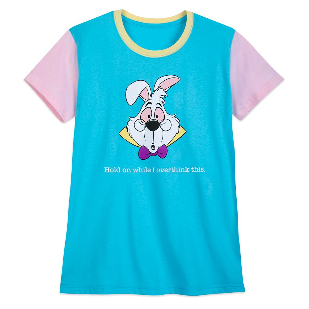 "White Rabbit ""Overthink This"" T-Shirt for Women  Alice in Wonderland Official shopDisney"