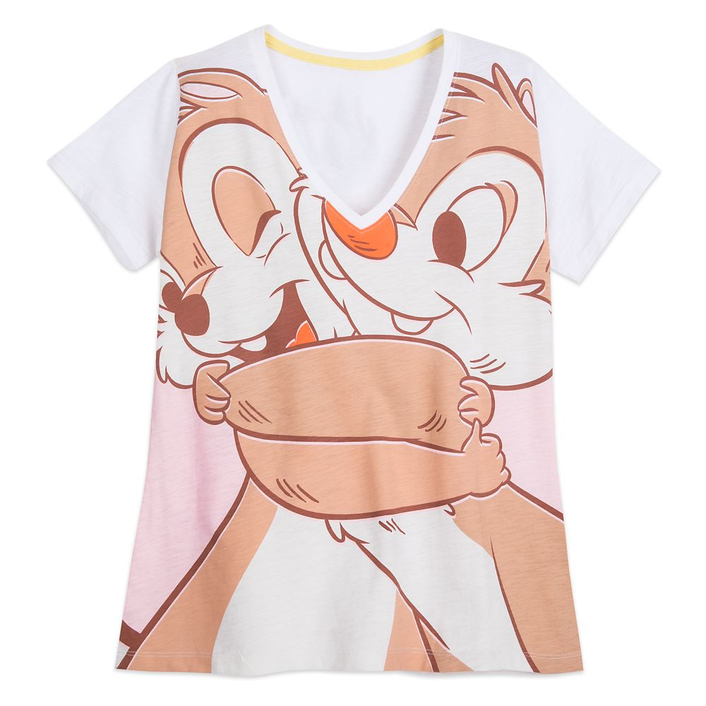 Chip 'n Dale V-Neck T-Shirt for Women