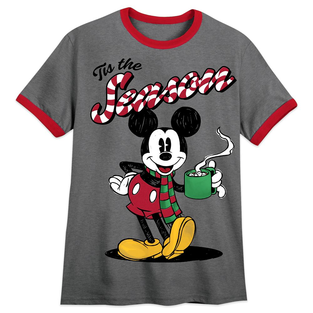 Mickey Mouse Holiday Ringer T-Shirt for Men