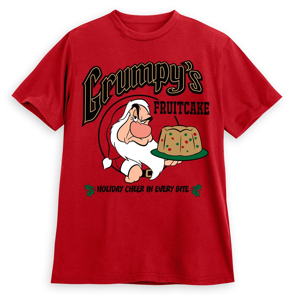 Grumpy Holiday T-Shirt for Adults Snow White and the Seven Dwarfs Official shopDisney Best Disney Christmas Shirts