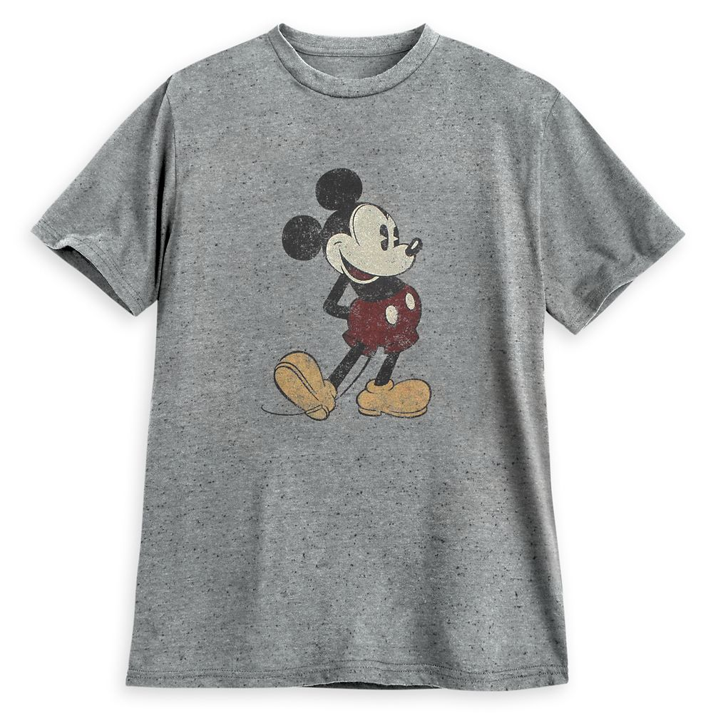 shopdisney.com - Mickey Mouse Classic T-Shirt for Adults  Gray Official shopDisney 24.99 USD