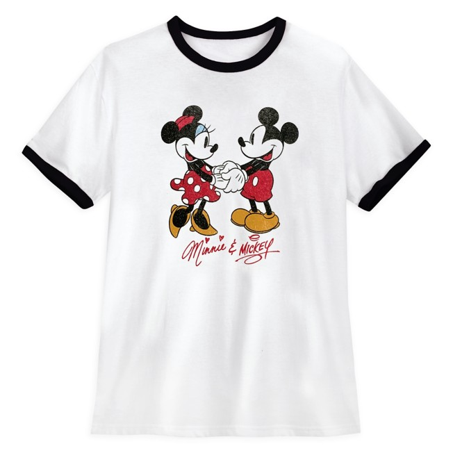 Mickey and Minnie Mouse Ringer T-Shirt for Women