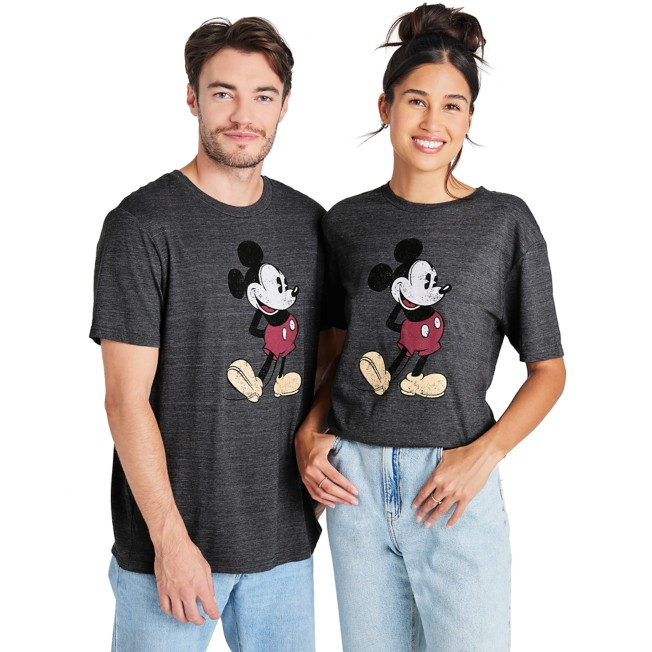 Mickey Mouse Classic T-Shirt for Adults – Dark Gray