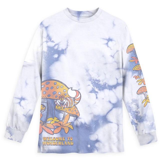 Alice in Wonderland Long Sleeve Tie-Dye T-Shirt for Adults