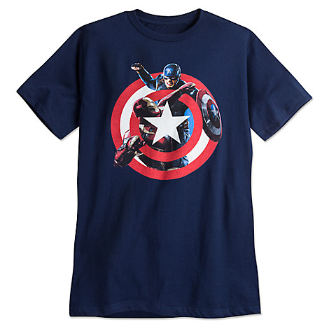Captain America and Iron Man Tee for Men by Mighty Fine - Captain America: Civil War