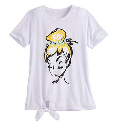 Tinker Bell Fashion Tee with Tie Hem for Juniors