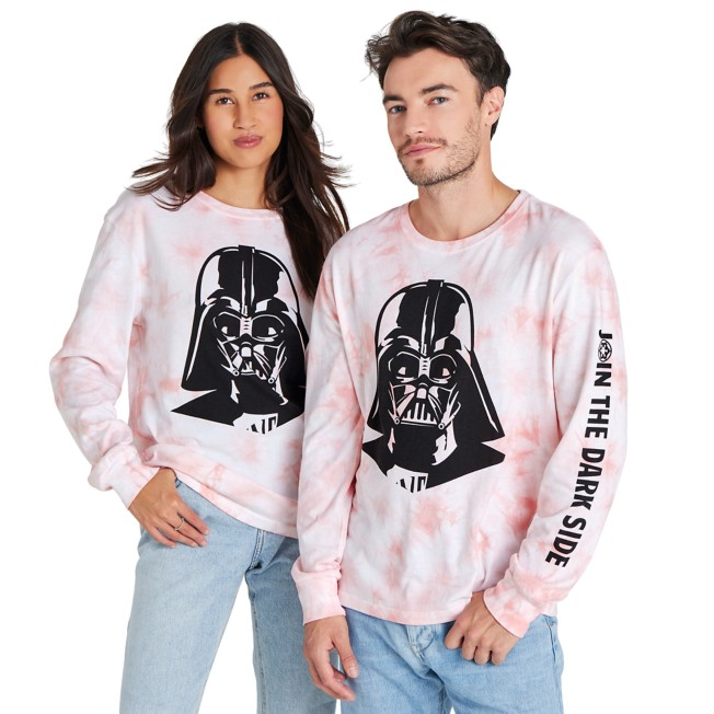 Darth Vader Tie-Dye Long Sleeve T-Shirt for Adults – Star Wars