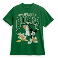 Mickey Mouse and Friends Milwaukee Bucks T-Shirt for Adults by Junk Food