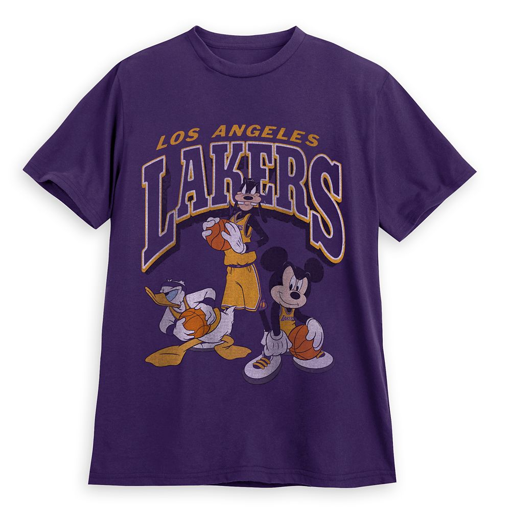 Mickey Mouse and Friends Los Angeles Lakers T-Shirt for Adults by Junk Food