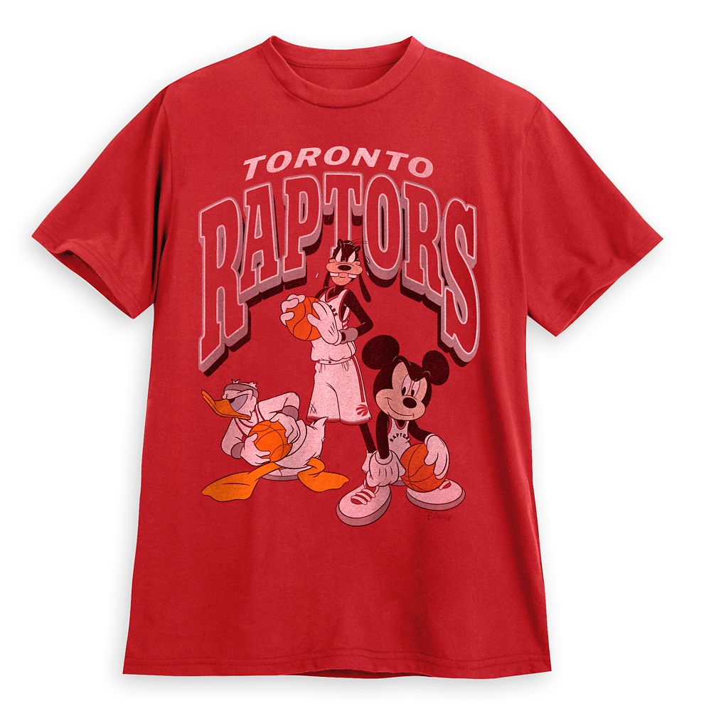 Mickey Mouse and Friends Toronto Raptors T-Shirt for Adults by Junk Food
