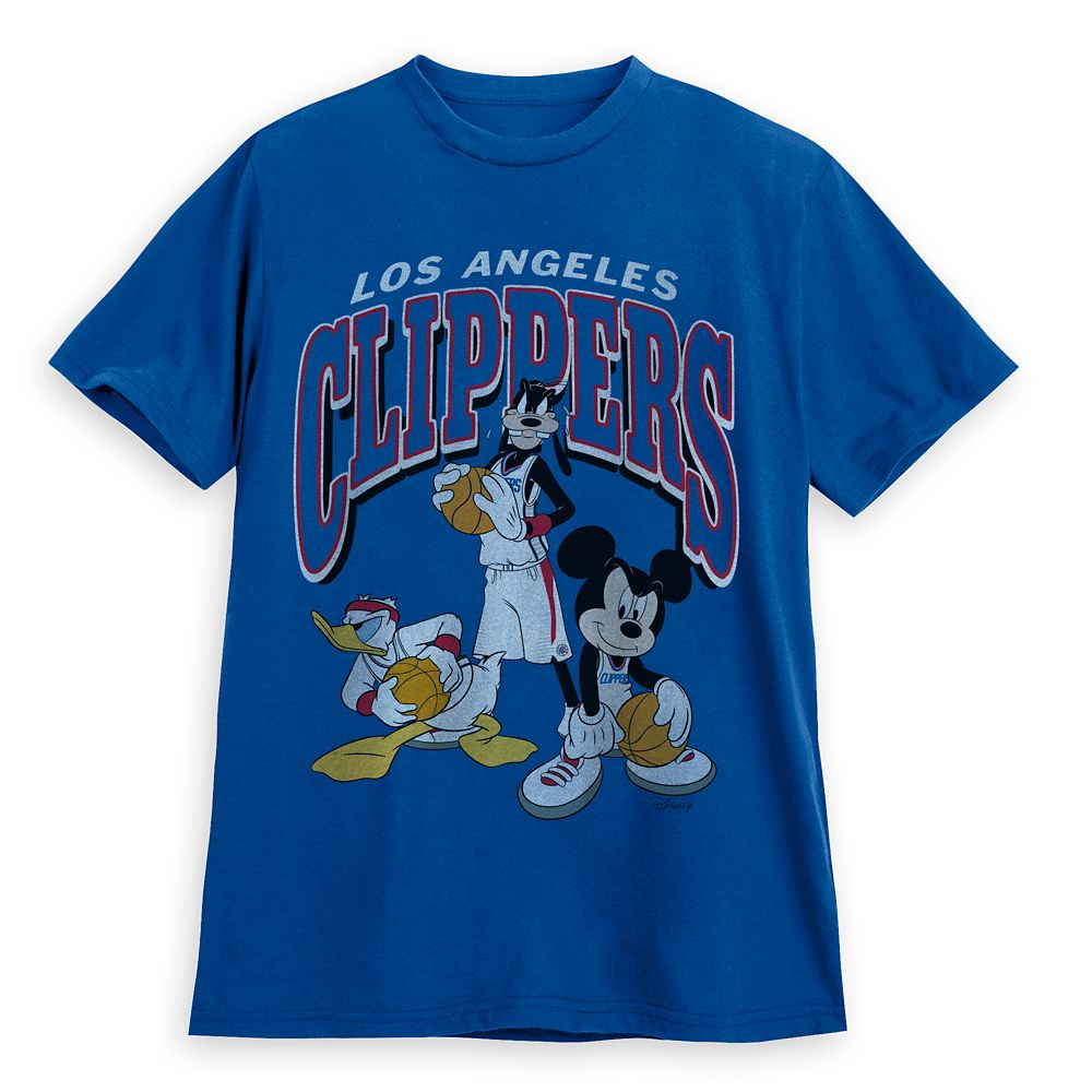 Mickey Mouse and Friends Los Angeles Clippers T-Shirt for Adults by Junk Food