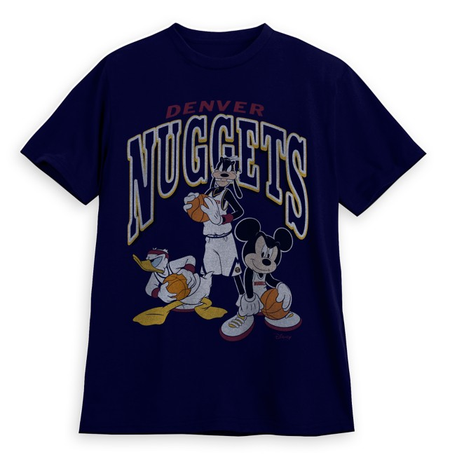 Mickey Mouse and Friends Denver Nuggets T-Shirt for Adults by Junk Food