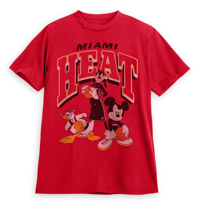 Mickey Mouse and Friends Miami Heat T-Shirt for Adults by Junk Food