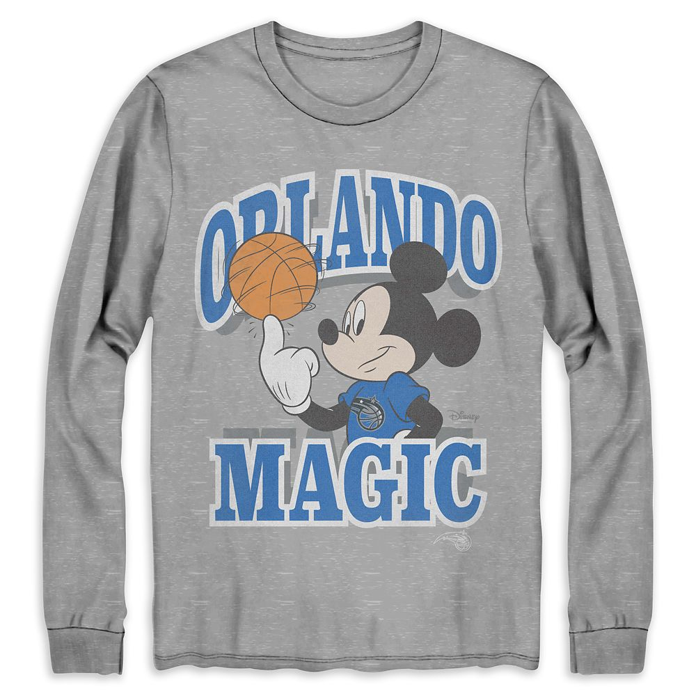 Mickey Mouse Orlando Magic Long Sleeve T-Shirt for Adults by Junk Food