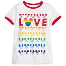 Mickey Mouse Ringer T-Shirt for Adults – Rainbow Disney Collection