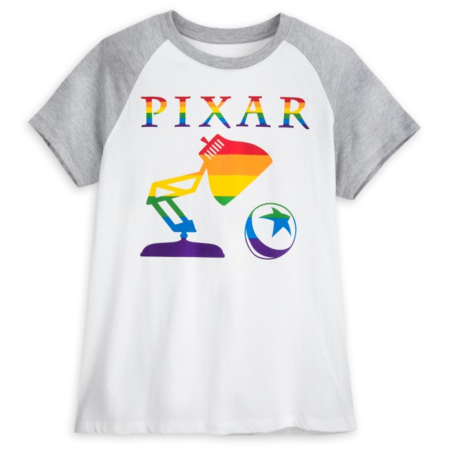 Pixar Logo Raglan T-Shirt for Adults – Rainbow Pixar Collection