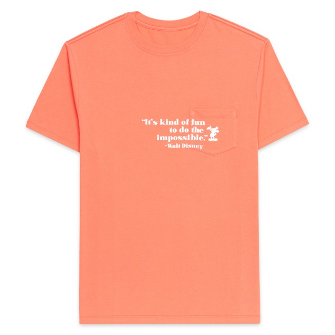 Walt Disney Quote Pocket T-Shirt for Adults