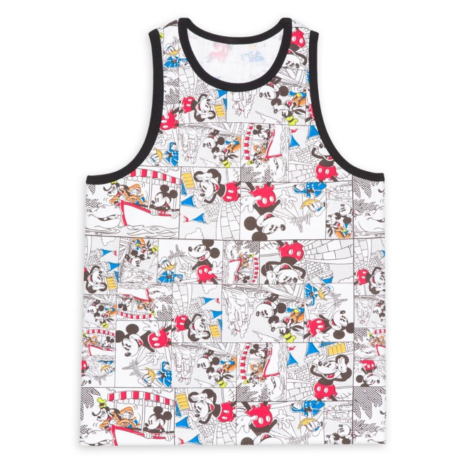 Mickey Mouse and Friends Comic Strip Tank Top for Adults