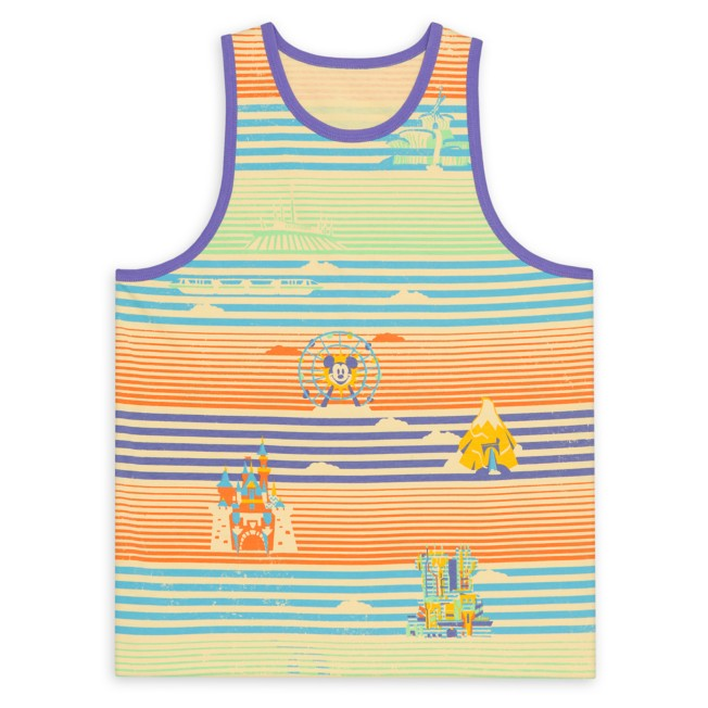 Disneyland Striped Tank Top for Adults