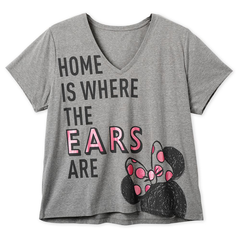 Minnie Mouse ''Home is Where the Ears Are'' T-Shirt for Women  Extended size Official shopDisney