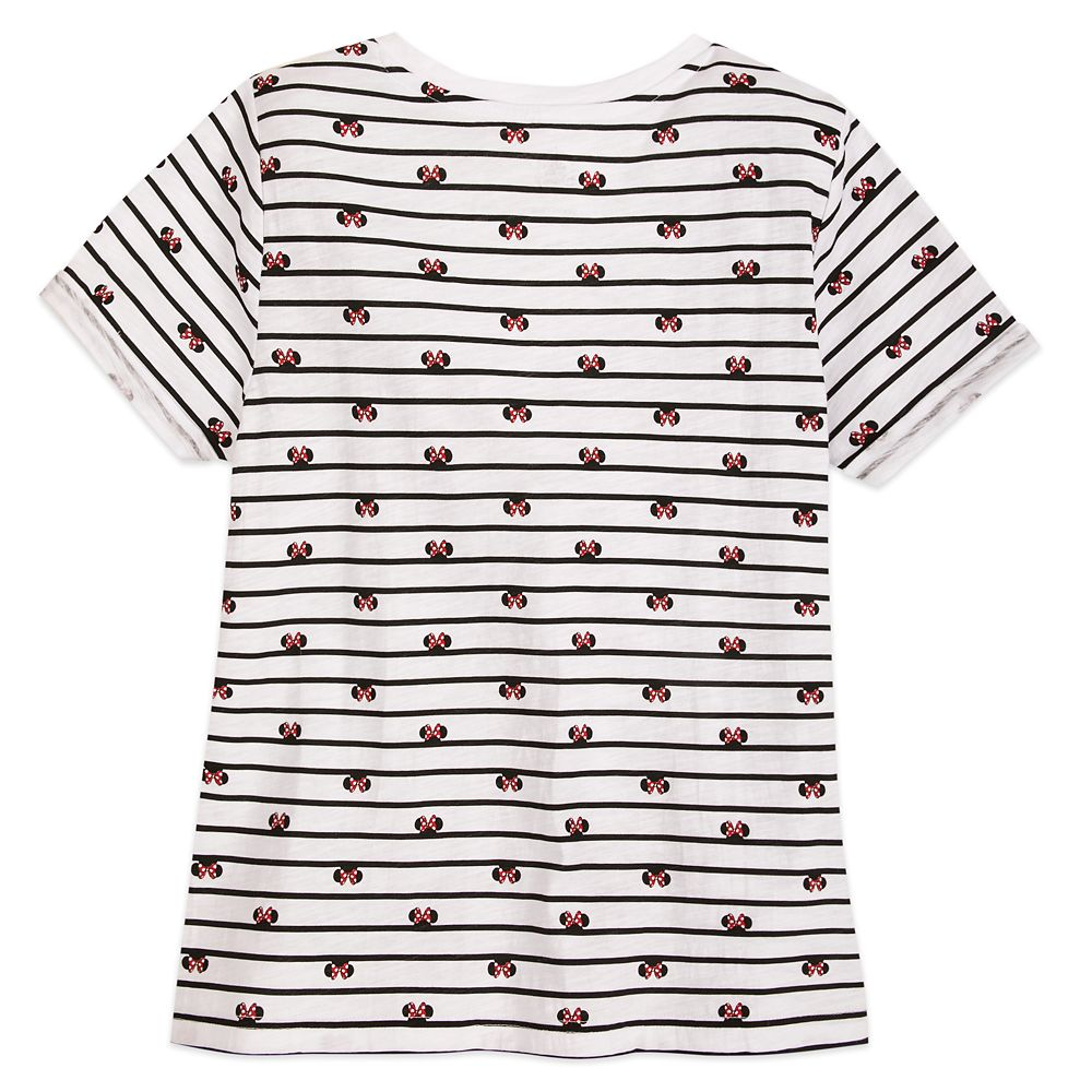 Minnie Mouse Icon Striped T-Shirt for Women