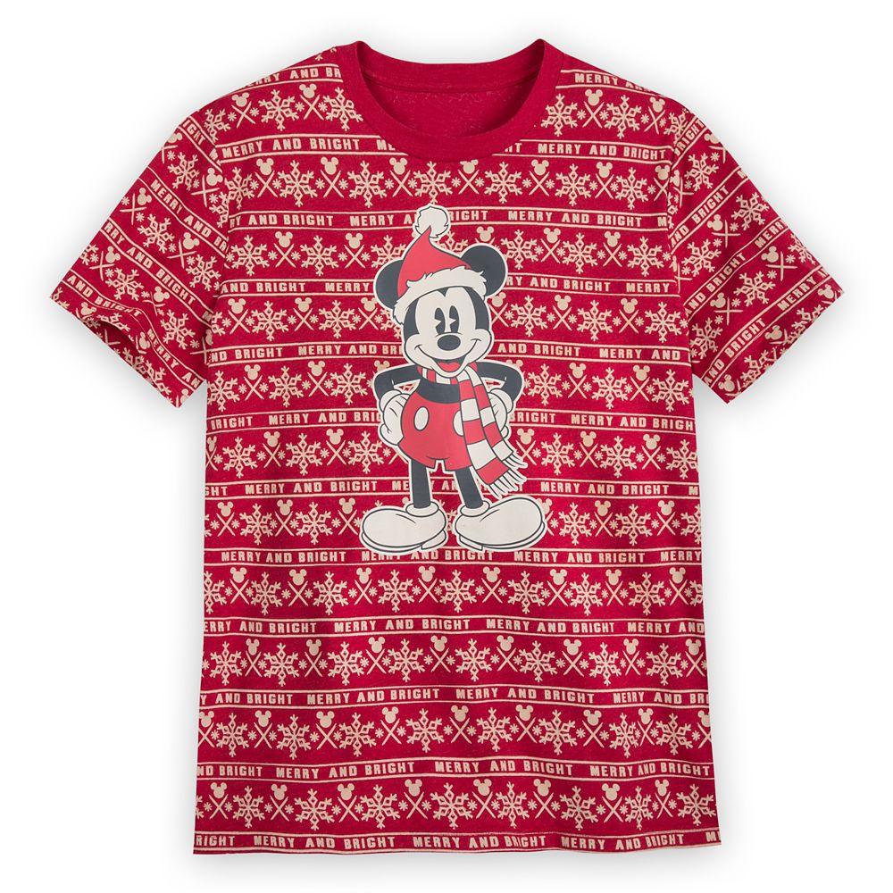 Mickey Mouse Holiday Cheer T-Shirt for Men