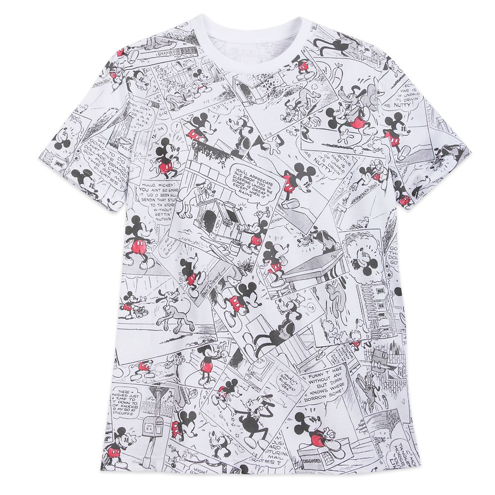 Mickey Mouse Comic Strip T-Shirt for Men