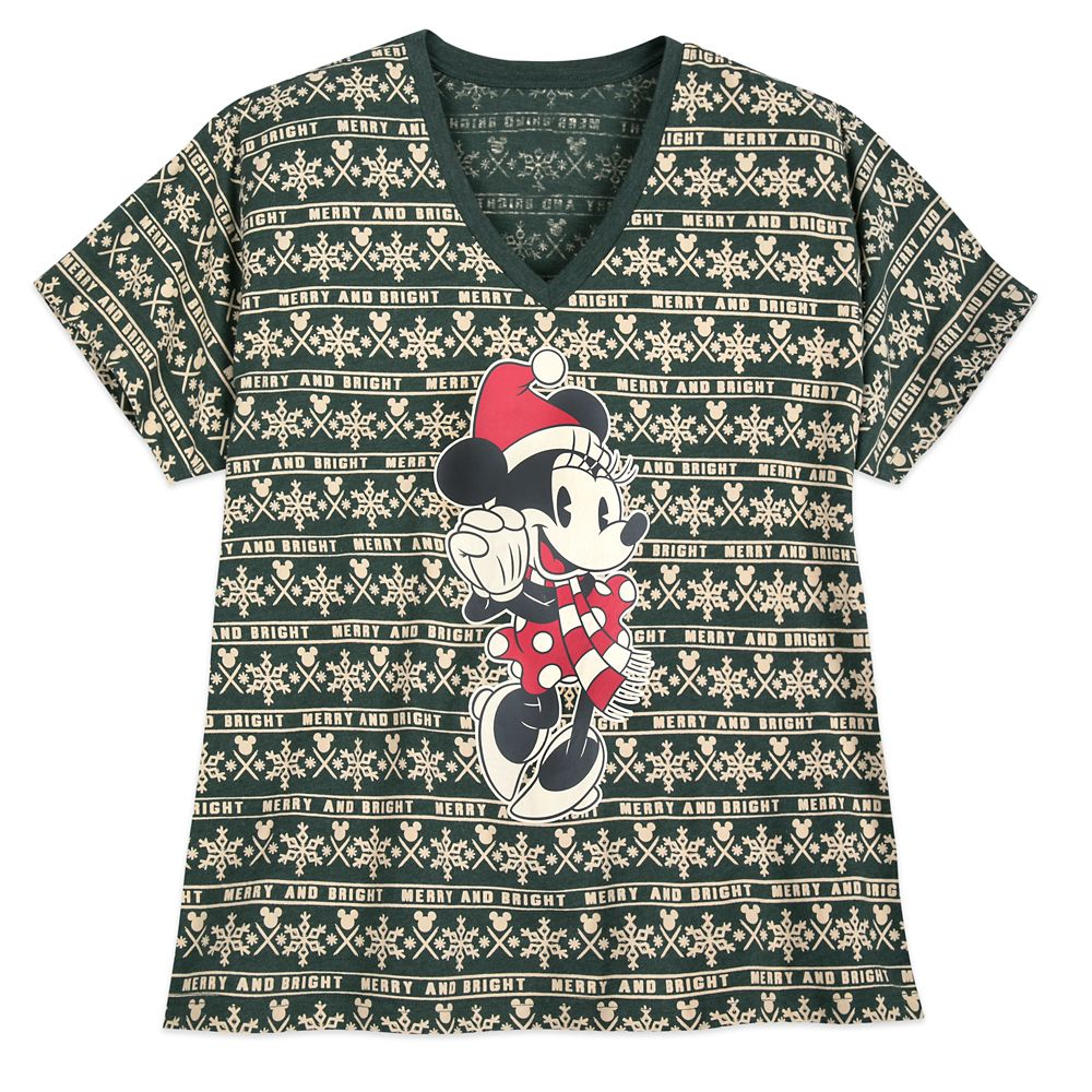 Minnie Mouse Holiday Cheer T-Shirt for Women  Extended Size Official shopDisney