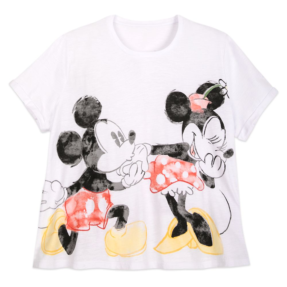 Mickey and Minnie Mouse T-Shirt for Women  Extended Size Official shopDisney