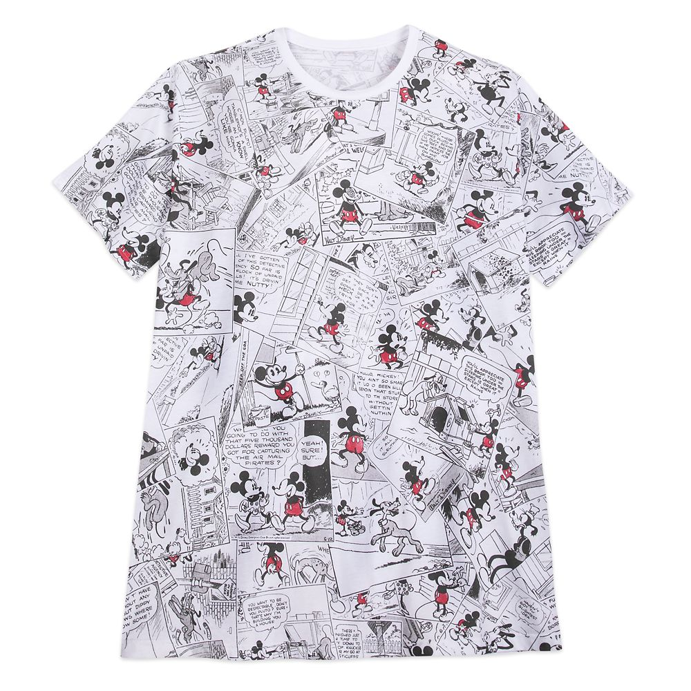 Mickey Mouse Comic Strip T-Shirt for Men – Extended Size