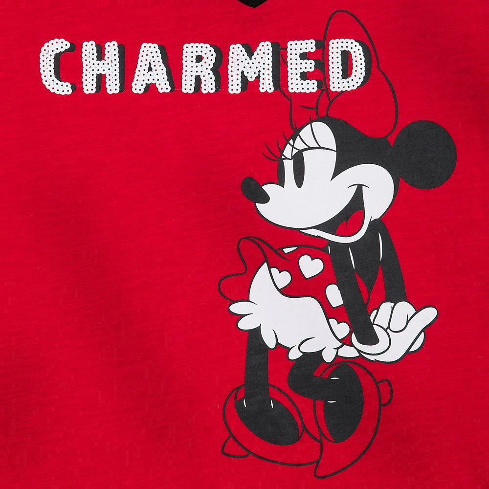 Minnie Mouse ''Charmed'' V-Neck T-Shirt for Women