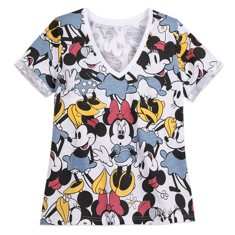 Minnie Mouse V-Neck T-Shirt for Women