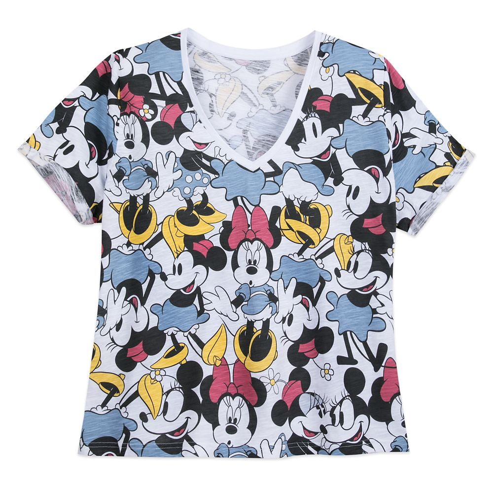 Minnie Mouse V-Neck T-Shirt for Women – Extended Size