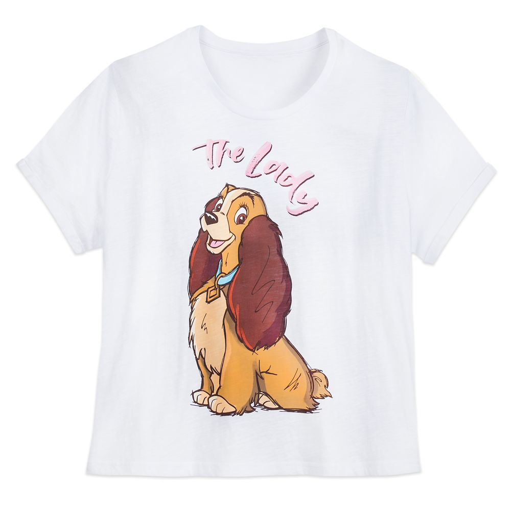 Lady ''The Lady'' T-Shirt for Women – Lady and the Tramp – Extended Size