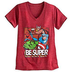 Marvel Heroes Heathered Tee for Women