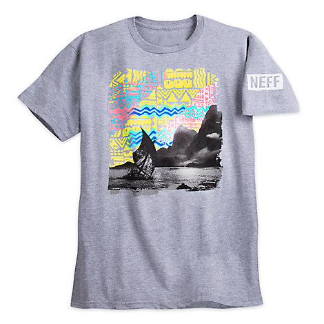 Disney Moana Designer Tee for Men by Neff - Light Gray