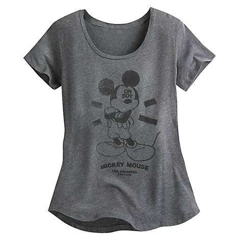 Mickey Mouse Oh Boy Tee for Juniors by Neff - Gray