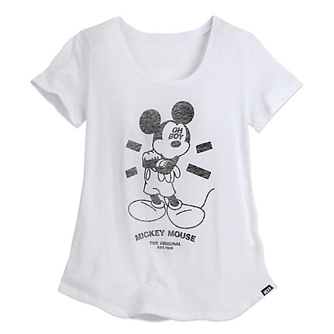 Mickey Mouse Oh Boy Tee for Women by Neff - White