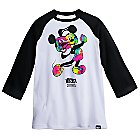 Mickey Mouse Distorted Raglan Tee for Men by Neff
