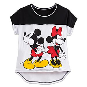 Mickey and Minnie Mouse Sports Tee for Juniors
