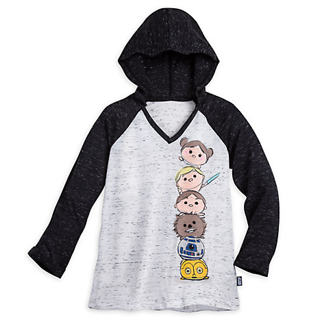 Star Wars ''Tsum Tsum'' Hooded Baseball Tee for Juniors