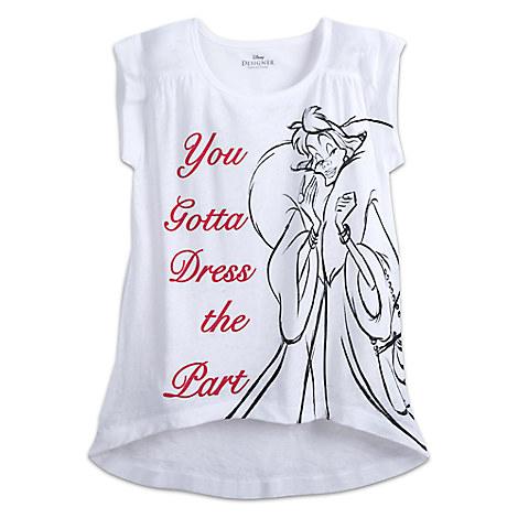 Cruella De Vil Fashion Tee for Women by Disney Designer Collection