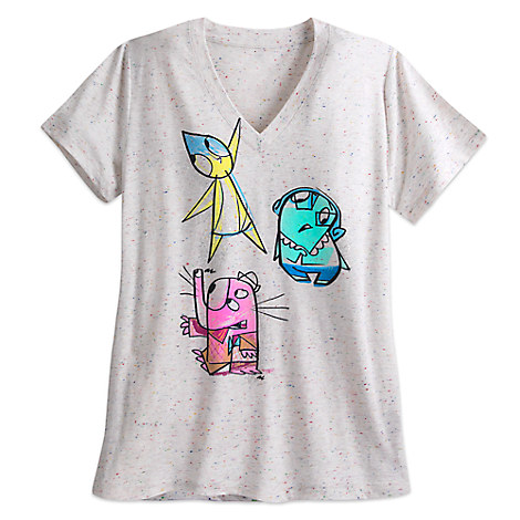 Inside Out Sketch Tee for Women