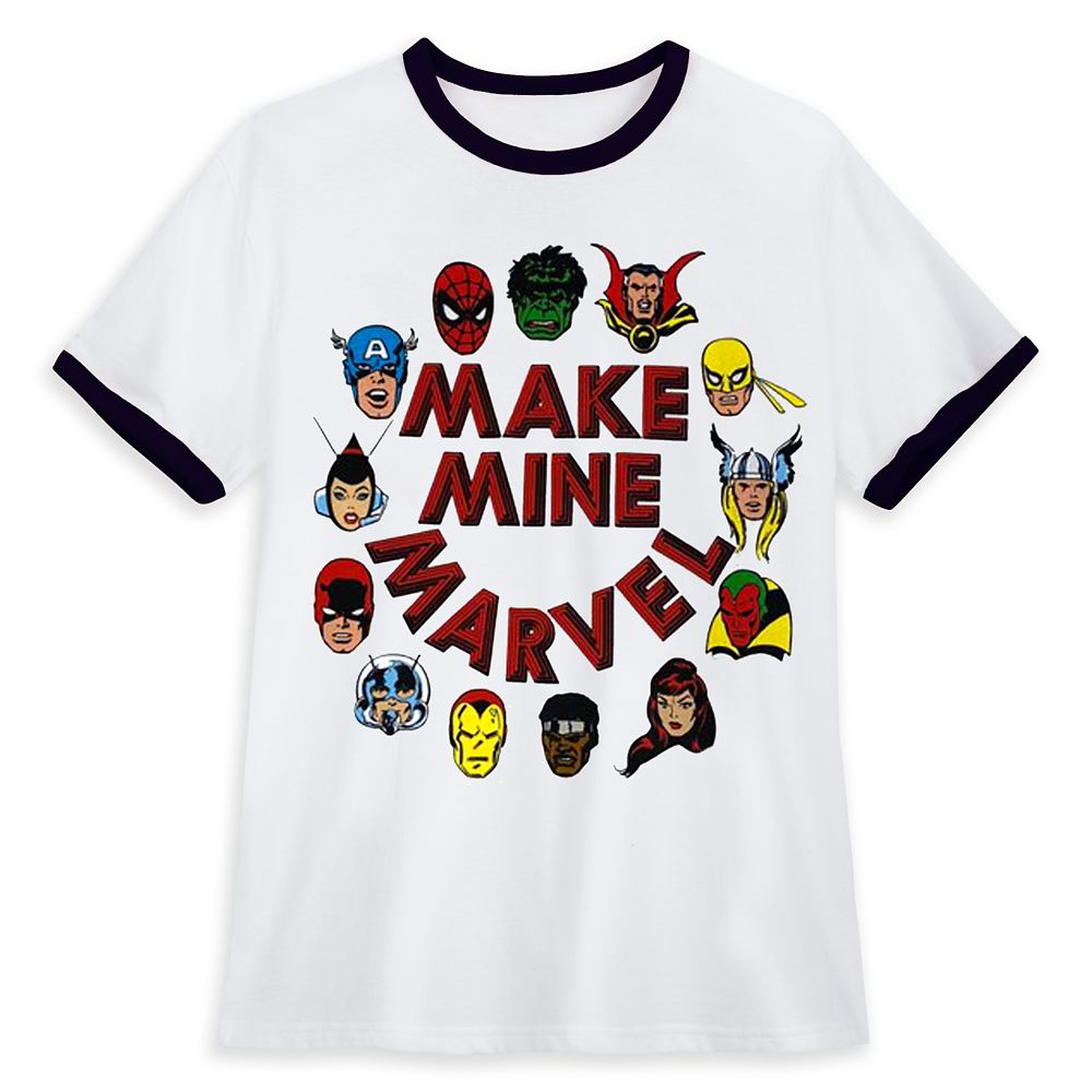 Marvel Comics Ringer Tee for Adults