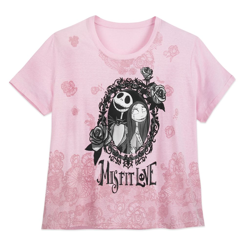 Jack Skellington and Sally T-Shirt for Women – Tim Burton's The Nightmare Before Christmas – Extended Size