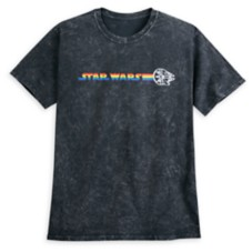 Millennium Falcon Mineral Wash T-Shirt for Adults – Rainbow Star Wars Collection