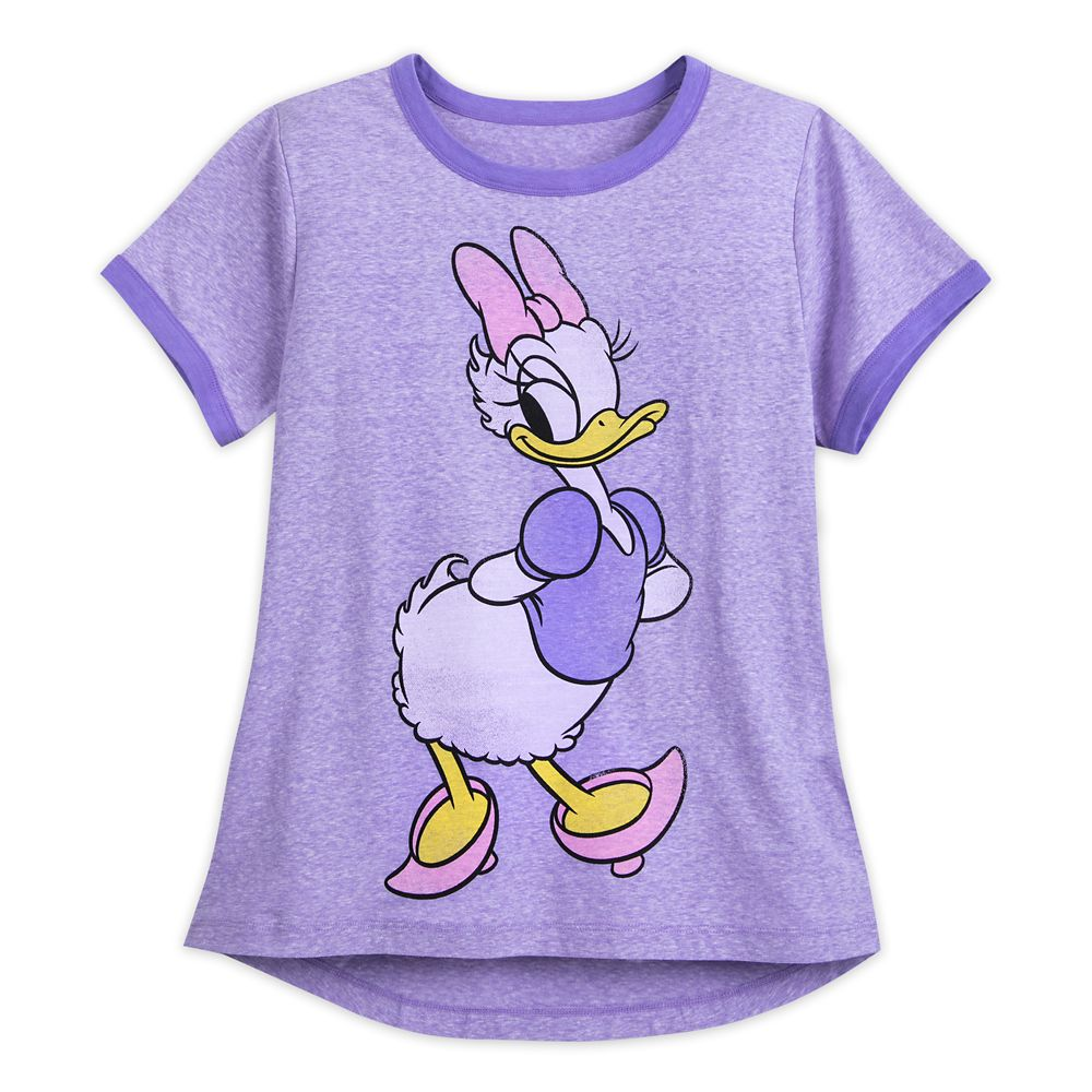 Daisy Duck Ringer T-Shirt for Women