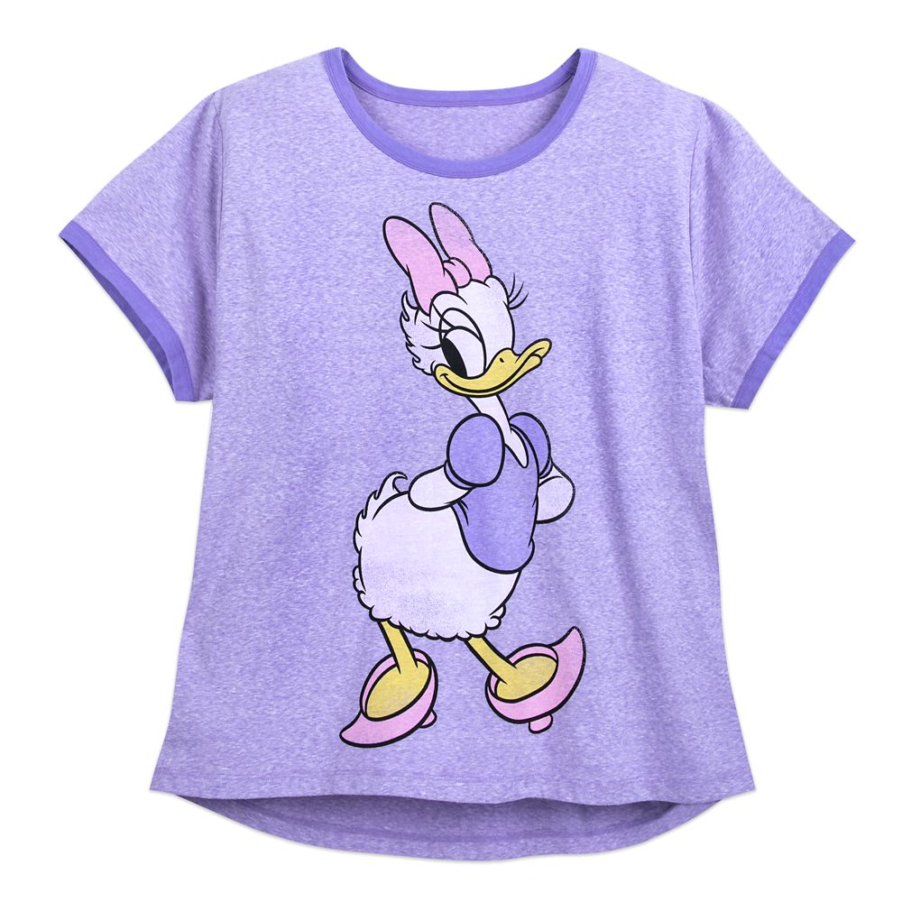 Daisy Duck Ringer T-Shirt for Women – Extended Size