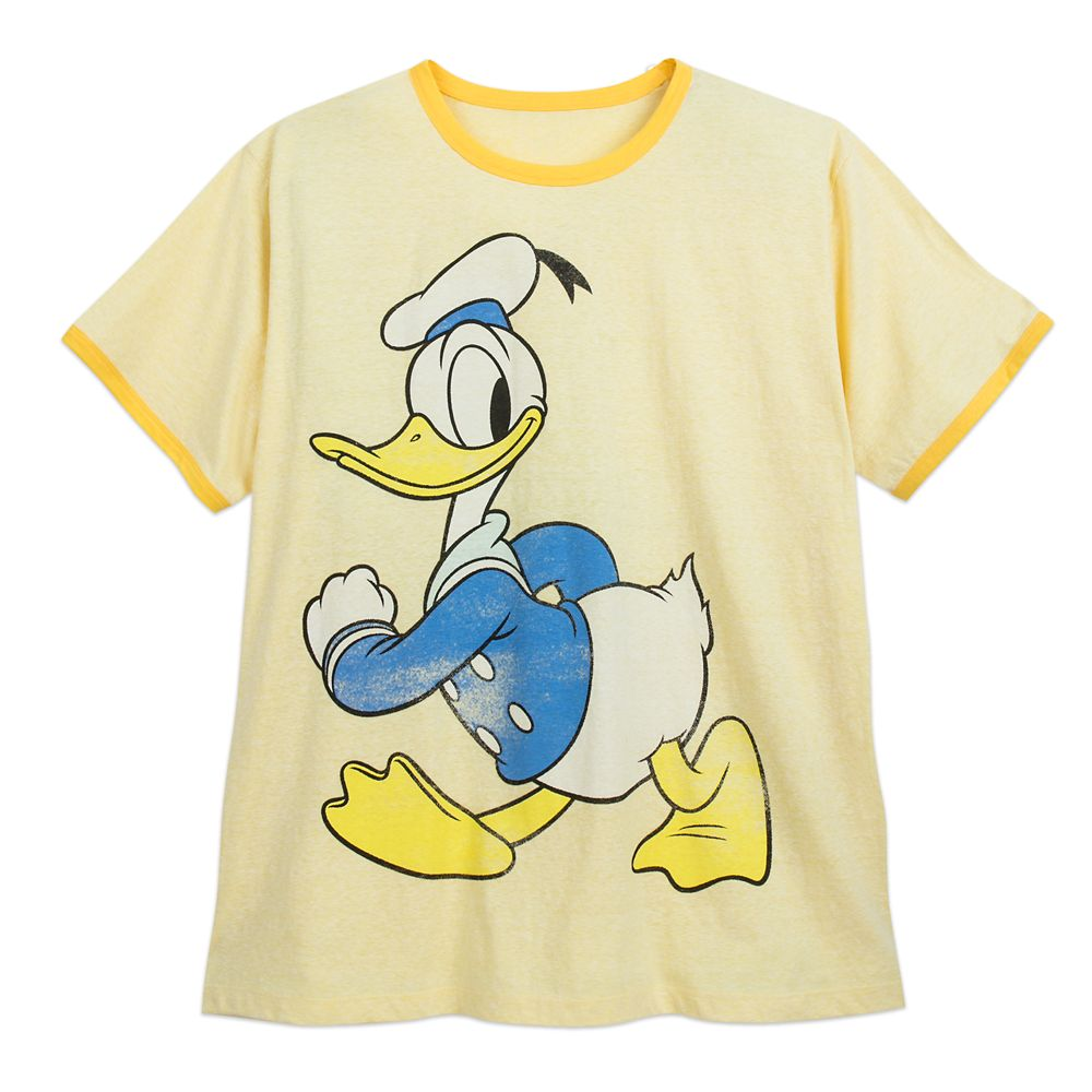 Donald Duck Ringer T-Shirt for Men – Extended Size