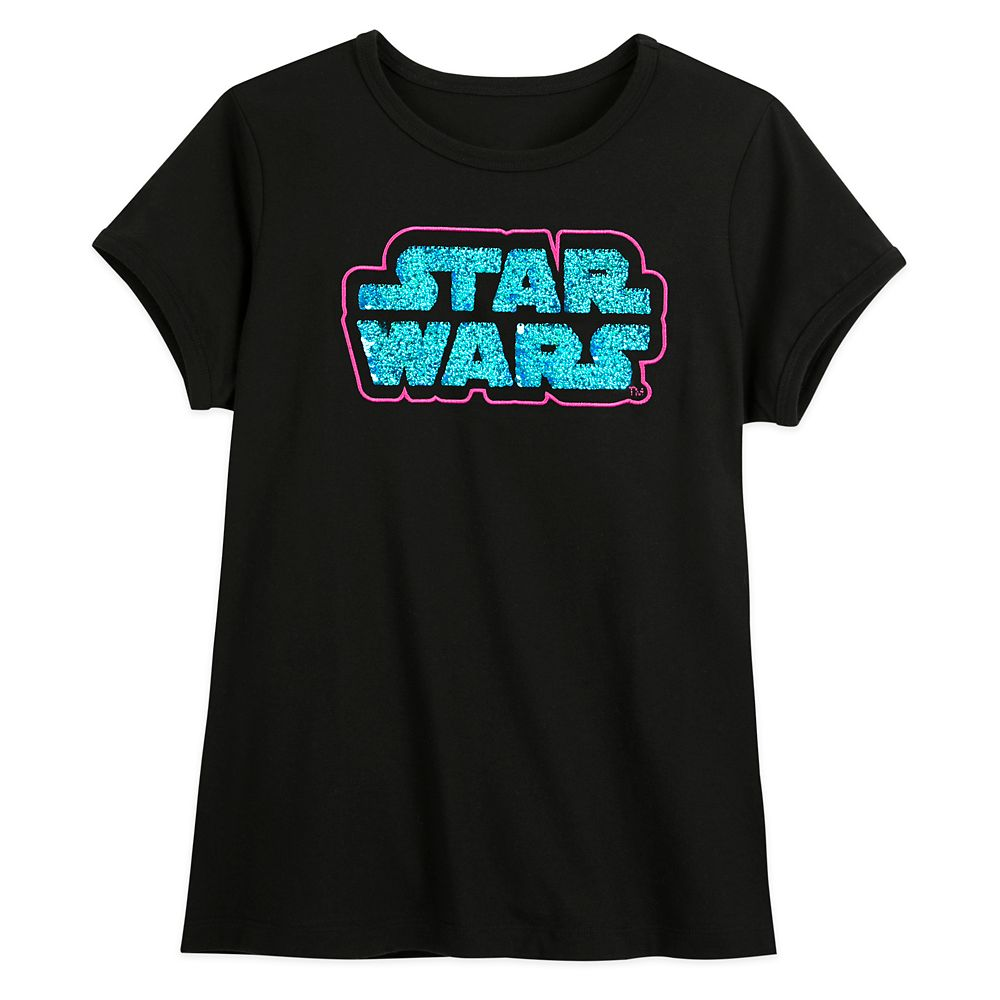 Star Wars Logo Flip Sequin T-Shirt for Women